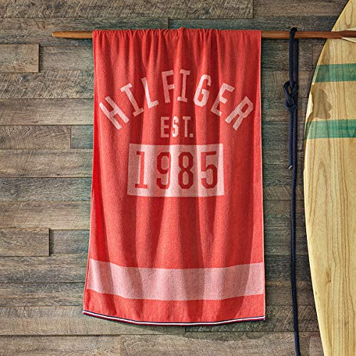 Tommy Hilfiger Toalla de playa 1985 Coral 90 x 180 cm