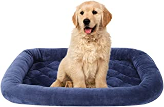 EMME Padded Pet Bed Luxury Flannel All Season Crate Mat for Dog & Cat Plush Pet Bed Pet Mat