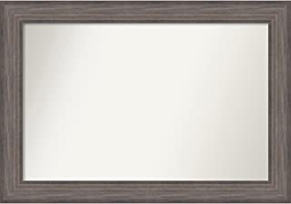 Amanti Art Outer 39 x 27 Wall Mirror, Choose Your Custom Size Medium, Country Barnwood Wood, Glass 22 x 34