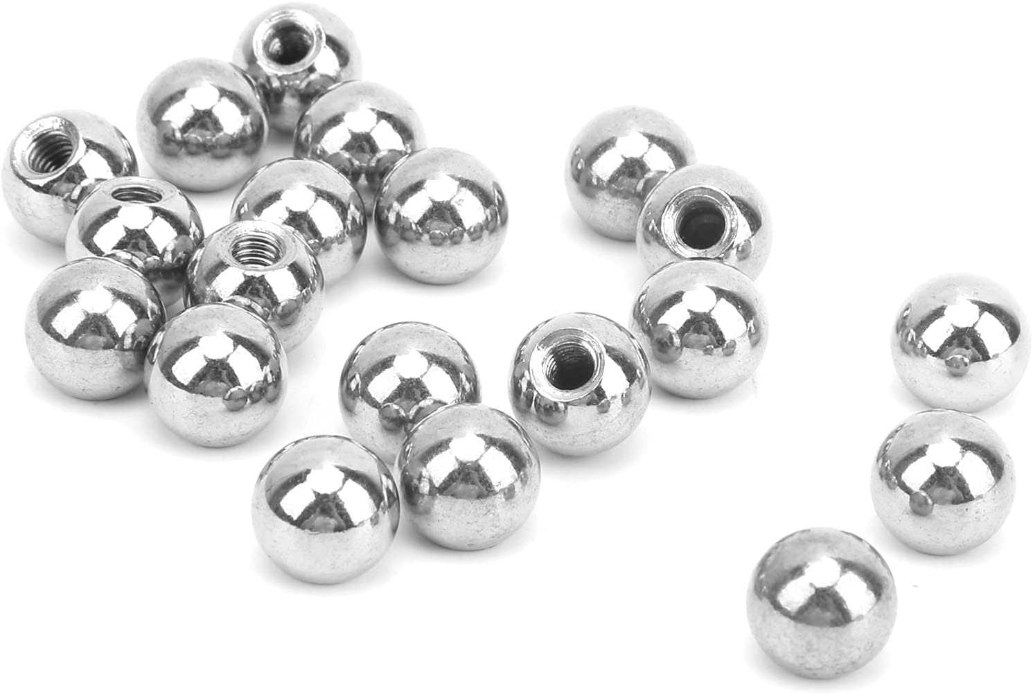 20Pcs Threaded Ball Stainless Steel Phoenix Mall T M4 Drilling Bead Trimming Daily bargain sale
