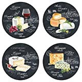 sans_marque 463WOCH Set of 4 Cheese on Slate Dessert Plates