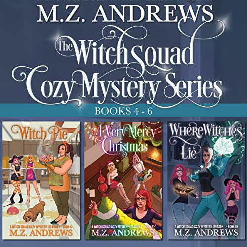 The Witch Squad Cozy Mystery Series, Books 4-6 cover art
