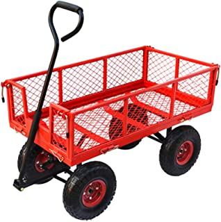 ZQY Side Movable Steel Multi-function Cart Four-wheel Net Vehicle Heavy King Push-pull Truck Transport Truck Truck Tractor...