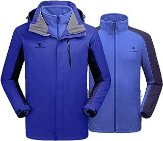 CAMEL CROWN Men's Ski Jacket Waterproof 3 in 1 Winter Coats Snow Jacket for Rain Outdoor Hiking