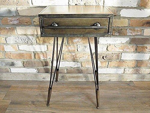 Industrial Vintage mesa de mesilla de noche armario, pecho de cajones unidad de almacenamiento