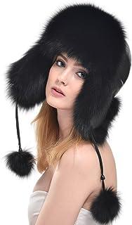 BOLAWOO-77 Mössor dam äkta huvud med mjuk och hatt mysig mode märken vintermössa pälsmössa kepsar