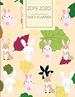 2019 2020 15 Months Bunny Rabbit Daily Planner: Academic Hourly Organizer In 15 Minute Interval; Appointment Calendar With Address Book, Password Log ... Diary With Quotes; From Jun 2019 To Aug 2020