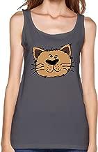 Cartoon Sweet Lovely Fat Cat Women's Tank Top