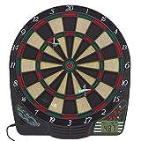 Best Sporting elektronische Dartscheibe Chester Dartboard mit LCD, 6 Dartpfeilen + Ersatzspitzen, Dartautomat mit Netzteil + Batteriebetrieb