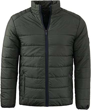 Mens Brave Soul Bubble Padded Winter Puffer Jacket In Navy /& Khaki AW18