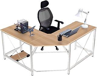 comprar comparacion SogesHome Corner Desk Escritorio en Forma de L para computadora L (150 + 150) * W55 * H76 cm Escritorio Grande para Escrit...