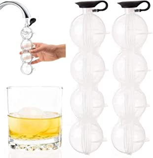 HHYSPA Ice Hockey Mould,Round Grid Ice Cube Maker Mould,Ice Ball Grid,Maker Mould,Reusable Bourbon and Scotch Whisky,Large Ice Hockey Spherical Tray,DIY Mould.