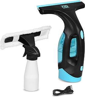 Prostormer Limpiador de Ventanas, Aspiradora de ventana, traje de 2 piezas, Escobilla de vacío, Botella de spray, 3,6V Batería de litio recargable