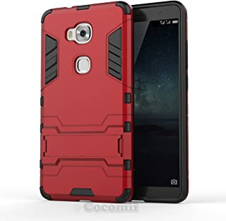Cocomii Iron Man Armor Huawei Honor 5X Case New [Heavy Duty] Premium Tactical Grip Kickstand Shockproof Hard Bumper [Military Defender] Full Body Dual Layer Rugged Cover for Huawei Honor 5X (I.Red)