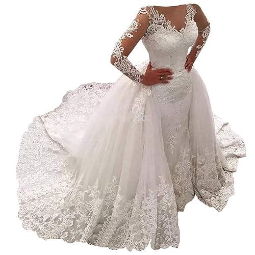 Wedding Dress With Detachable Train Amazon Com