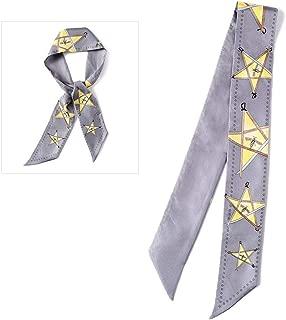 YANGBM Ms. Silk Scarf Silk Scarf Wild Narrow Strips Long Ribbon Ribbon Ribbon Decorative Tie (Color : E)