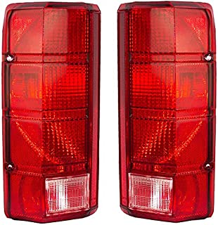 Rareelectrical NEW PAIR OF TAIL LIGHTS COMPATIBLE WITH FORD BRONCO 1980-1986 F100 FO2800103 E4TZ 13404 B E4TZ13404B E4TZ-1...