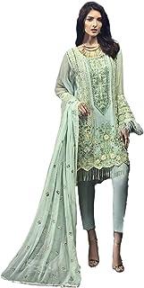 Women Designer Salwar Suit | Dress Material Unstitched | Ladies Salwar Kameez Kurta Pant with Heavy Dupatta | Ethnic India...