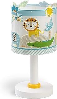 Dalber Lámpara Infantil de Mesilla My Little Animales Jungla, 40 W, Multicolor