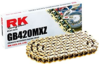 RK Racing Chain GB420MXZ120 120-Links Gold MX Chain with Connecting Link