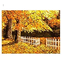 DIY数字油絵 塗り絵キット パズル油絵 黄金の森 デジタル油絵 手塗り 数字キットによる絵画 絵かき インテリア 壁飾り ホームデコレーション 40x50cm(額縁なし)