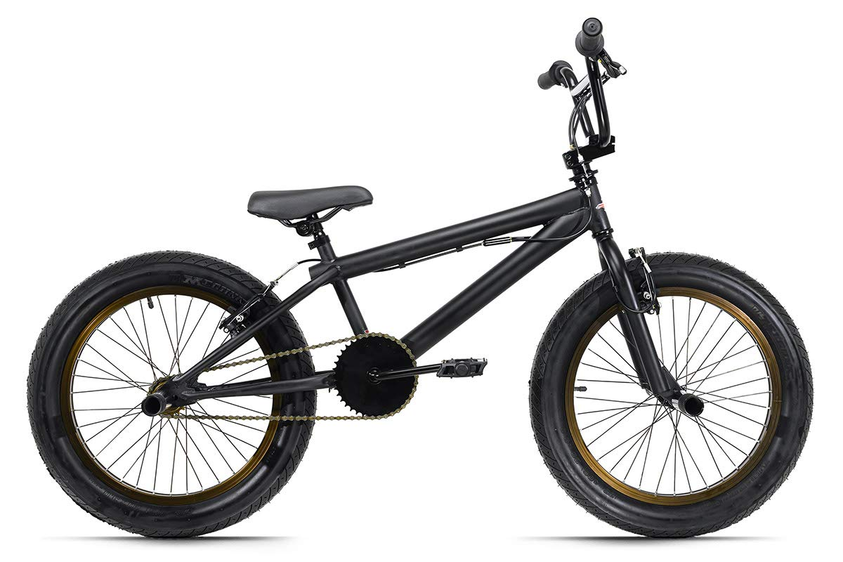 KS Cycling BMX Freestyle - Bicicleta Infantil (20, Mate, 25 cm), Color Negro: Amazon.es: Deportes y aire libre
