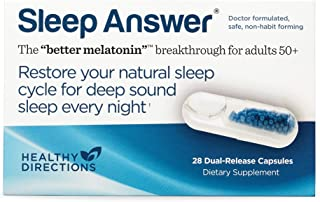 Dr. Wurtman's Sleep Answer Delivers Time-Released, Low-Dose Melatonin That Helps You Fall Asleep, Stay Asleep, and Wake Up Refreshed (28 Dual-Dose Capsules)