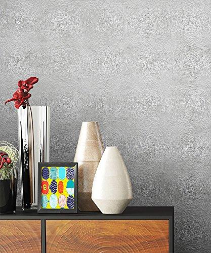 NEWROOM Kindertapete Grau Putz Beton Uni Papiertapete schwarz Papier Tapete Struktur Bauhaus