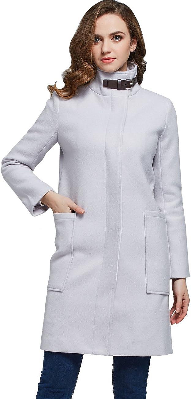 Camii Mia Women's Buckle Fastening Warm Winter Wool Max 80% OFF Coat 2021 model