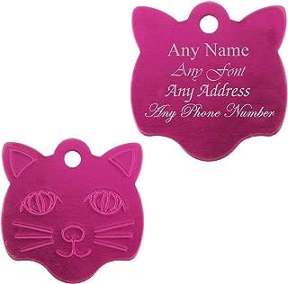 Rosso Joytale Etichette Acciaio Inox d/'identificazione per Animali Domestici,Medagliette Identificative Personalizzata per Cani e Gatti,Targhetta Cane con Incisione