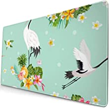 Computer Game Mouse Pad Crane Large Mousepad Keyboard Rubber Non-Slip Desk Cover Mouse Mat (15.8x29.5x0.1 in)