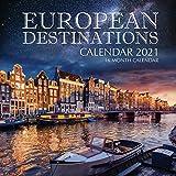European Destinations Calendar 2021: 16 Month Calendar