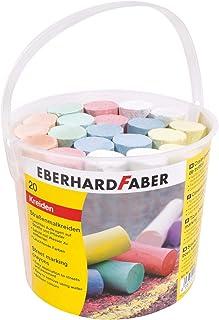 Eberhard Faber 526512-Crayons 5 Vives, Seau avec 20 Crayons, pour s'amuser à Peindre en Couleurs sur l'asphalte, Les Route...