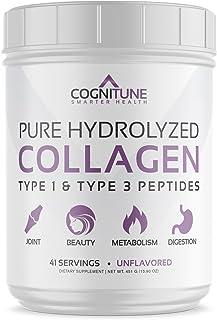 Pure Hydrolyzed Collagen Protein Powder - Type 1 & 3 Peptides Unflavored - Premium Grass Fed, Keto Diet & Paleo Friendly N...