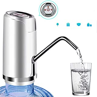 Water Bottle Pump, USB Charging Automatic Drinking Water Pump Portable Electric Water Dispenser Smart Wireless Water Pump with 600ml Quantitative Effluent Switch Fits for 1 to 5 Gallon Jugs