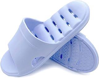 شباشب حمام للنساء شباشب للمنزل أحذية غير قابلة للانزلاق أحذية للسكن (Lt Blue 01، رقمي_6)
