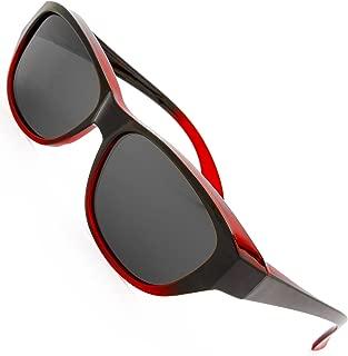 HD Polarized Wrap Around Sunglasses for Prescription Glasses 64mm Gift Box