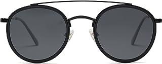 Retro Round Polarized Sunglasses UV400 Double Bridge Sun Glasses SUNSET SJ1104