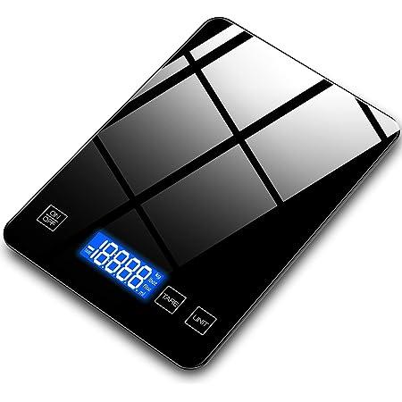Balance de Precision 0.01g, Homever 15kg Balance de Cuisine Professionnelle avec Écran LCD, Petite Balance de Bijoux, Balance de Précision avec Fonction de Tare, Acier Inoxydable (Noir)