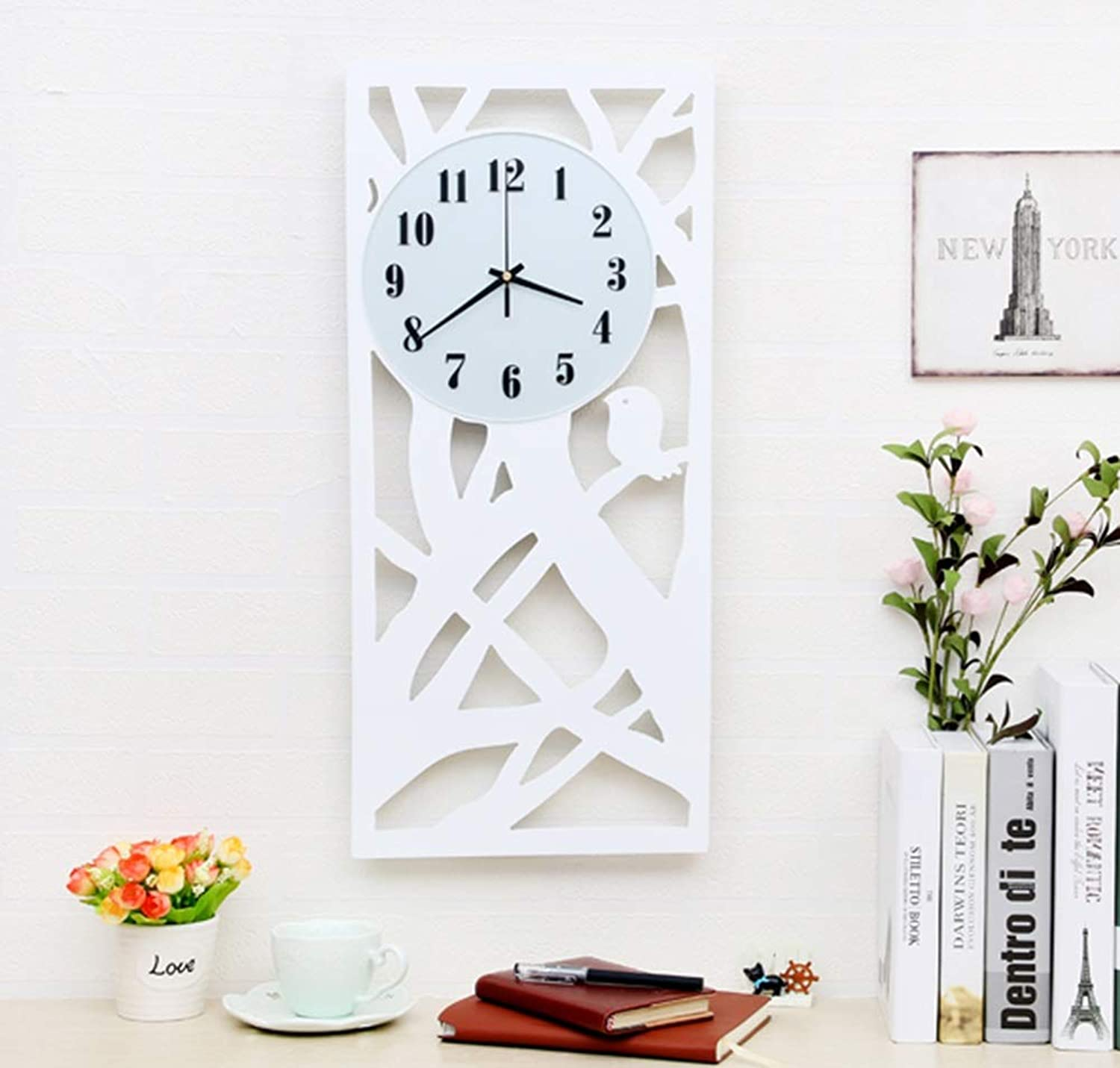 Wall Clock,Quartz Silent Tick Wall Clock- Ideal for Use in The Office, Home Or Kitchen (color   Black)