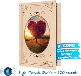 Recordable Greeting Love Card   Record Your own Words, Romantic Music   120 Seconds Recording   Embellish with Photos, Text Messages   Unique Anniversary Card, All Occasions Card