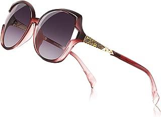Sunglasses for Women, Polarized Eyewear with Retro Oversized Frame-UV400 Protection Nylon Lens