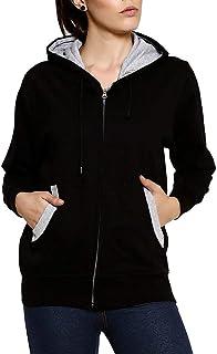 Goodtry G Women's Cotton Hooded Hoodie (GTWH-029-BLK-XXXXXL_Black_XXXXX-Large)