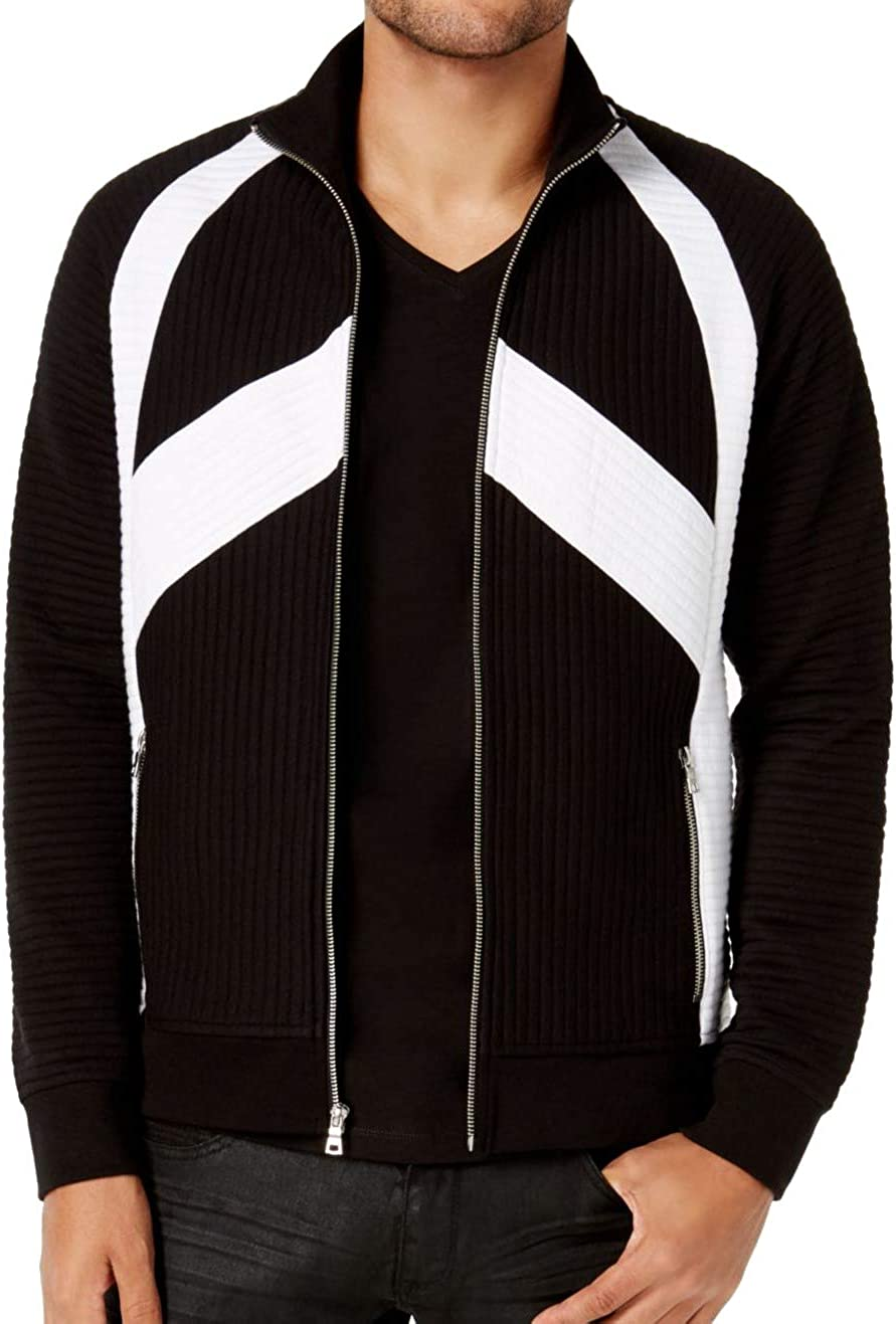 I-N-C Mens Pieced Quilted Jacket