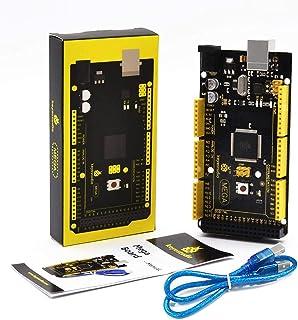 KEYESTUDIO MEGA R3 Development Board Microcontroller ATmega2560 ATMEGA16U2 w/USB Cable Compatible with Arduino IDE