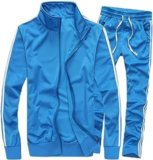 MACHLAB Men's Activewear Full Zip Warm Tracksuit Sports Set Casual Sweat Suit