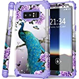 Galaxy Note 8 case,PIXIU Heavy Duty Protection Shock Absorption Anti Scratch Hybrid Dual Layer Phone Cases for Samsung Galaxy Note 8 2017 Realeased Peafowl Purple