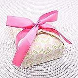 MNHJG Süßigkeitensack Hochzeit Gefälligkeiten und Geschenken Boxen Baby-Dusche Candy Box Geburtstag Party Dekoration für Gäste Party Kekse Papier Box, rosa Blume