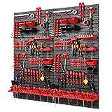 Werkzeugwand -1152 x 1170 mm - Set 78 Werkzeughaltern mit Lochwand Lagersystem Warkzeuglochwand...
