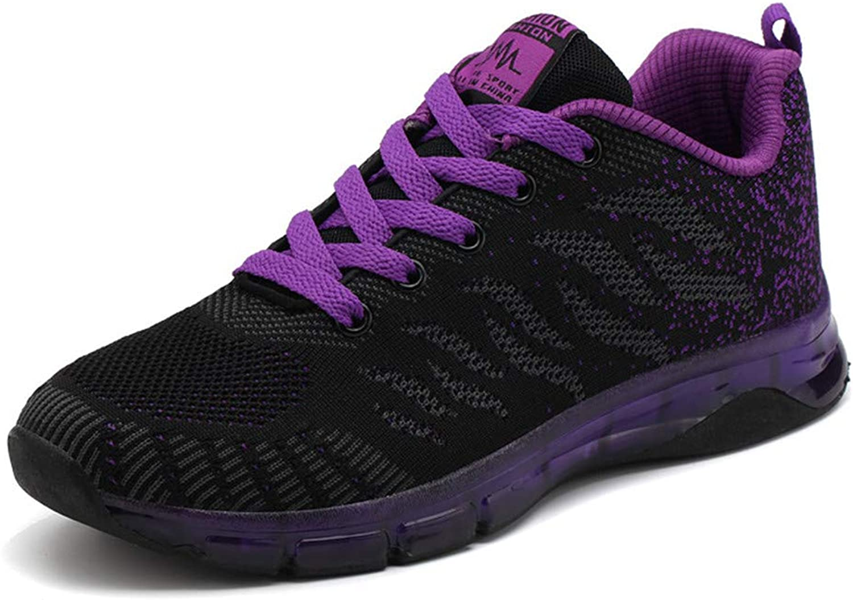 Womens Lightweight Mesh Sport Running shoes Simplistic Fashion Sneaker Tennis Running Walking Training shoes Lightweight,Purple,230